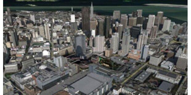Per Flugzeug durch Google Earth