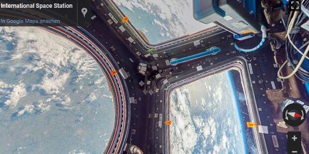 Mit Google Street View die ISS erkunden