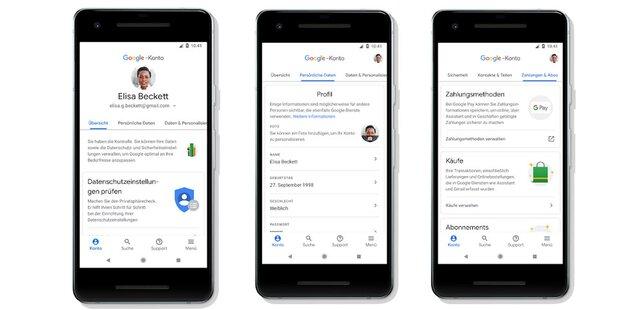 """Google macht """"Mein Konto"""" zu """"Google-Konto"""""""