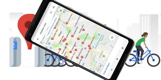 Google Maps zeigt in Wien Citybike-Stationen