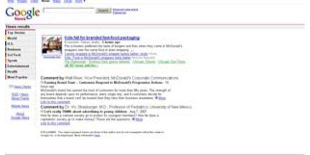 US-Google mit Kommentarfunktion