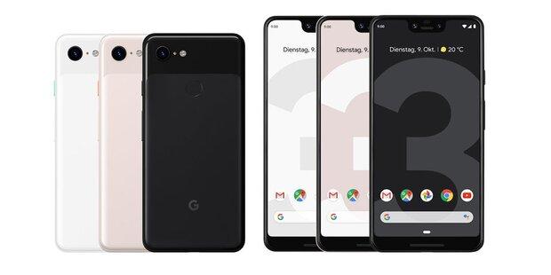 Google greift jetzt mit dem Pixel 3 (XL) an