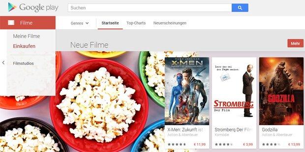 Google Play Movies startet in Österreich