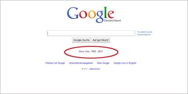 Google ehrt Jobs mit eigener Zeile