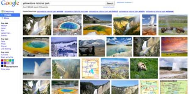 Google hat seine Bildersuche verbessert