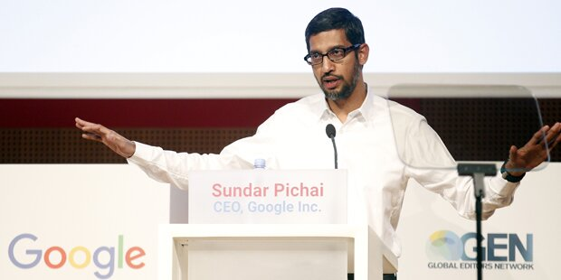 Google-Chef traf EU-Kommissarin