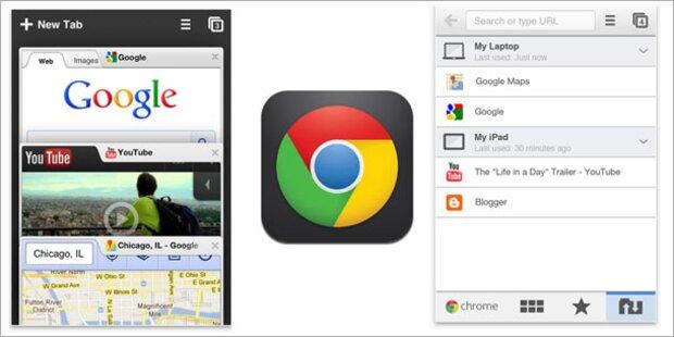 Google bringt Chrome für iPhone und iPad