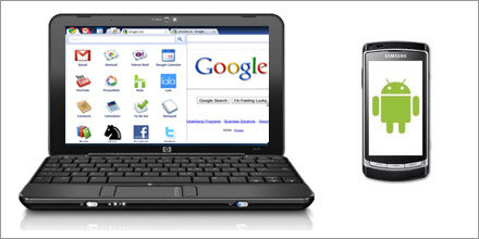 Gingerbread & Chrome OS-Notebook vor Start