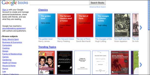 Googles neuer E-Book- Store ist gestartet