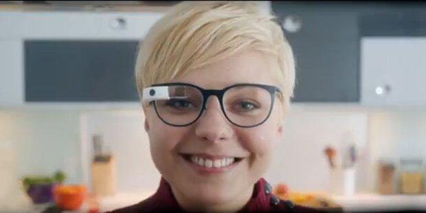 Google-Brille im Oakley- und Ray-Ban-Look