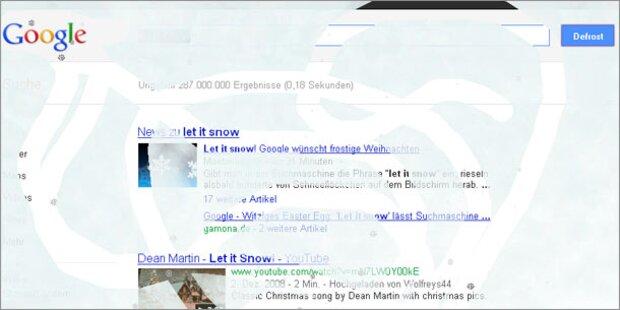Gag von Google: Suche lässt es schneien