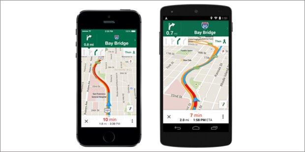 Google Maps-App ist jetzt ein Super-Navi