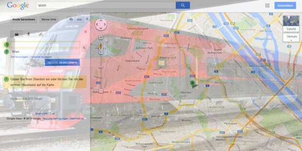 ÖBB-Fahrplan jetzt auf Google Maps