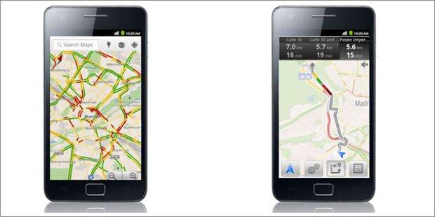 google maps mit echtzeit verkehrsinfos startet in sterreich