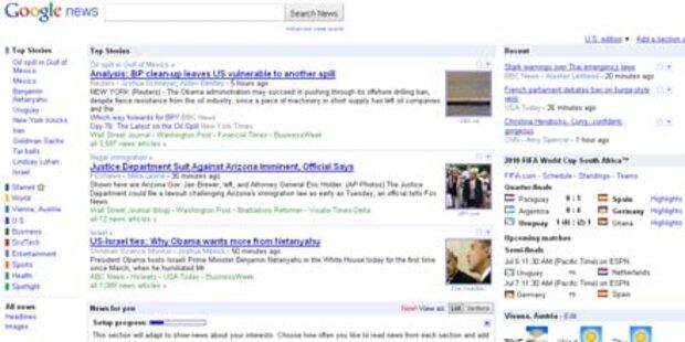 Google personalisiert News-Suche