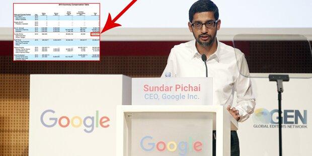 So viel verdienen die Google-Manager
