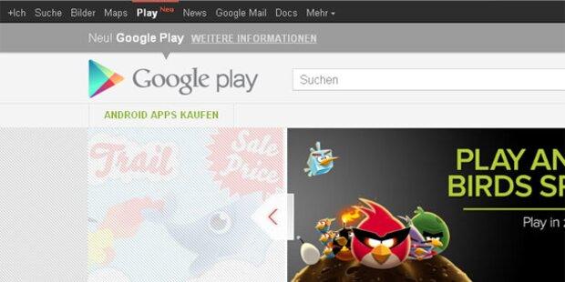 Google Play ab sofort in der Navi-Leiste