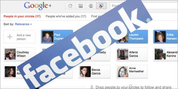 Duell: Facebook gegen Google+