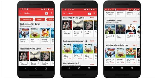 TV-Sendungen ab sofort in Google Play
