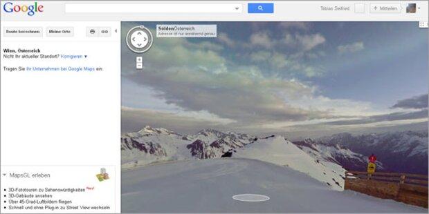 Ab auf unsere Skipisten - mit Google Maps!