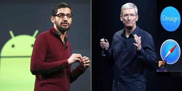 Werden Google & Apple zu Doppelgängern?