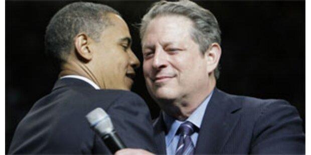 Al Gore sichert Obama seine Hilfe zu