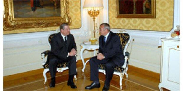 Gore liest Österreich die Klima-Leviten