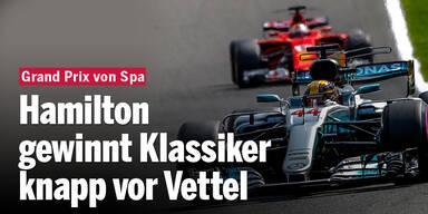 Hamilton gewinnt GP-Klassiker vor Vettel