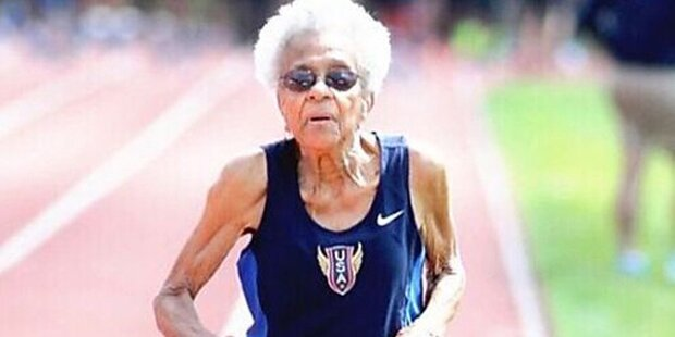 100-Jährige knackt Weltrekord im 100-Meter-Lauf