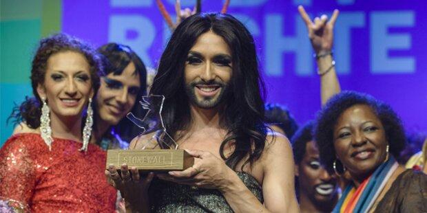 Conchita: Auftreten und Abräumen in Berlin