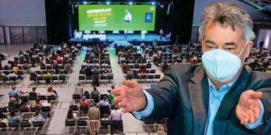 Grüner Parteitag als brave Regierungsshow