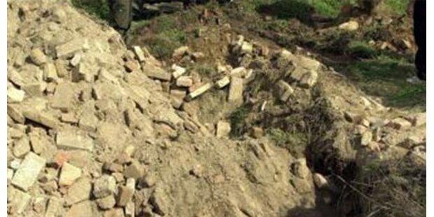 Grabungsarbeiten: Arbeiter verschüttet