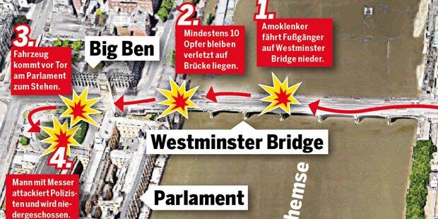 Grafik zeigt Spur des Terrors durch London