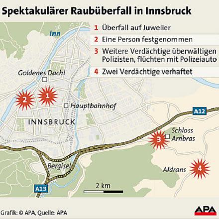 Raub in Innsbruck, Grafik