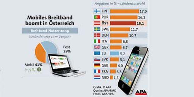 Österreicher setzen voll auf Mobilfunk