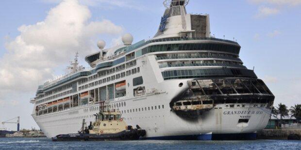 Feuer auf Luxus-Liner in der Karibik