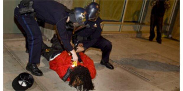 Weißer US-Polizist erschoss Schwarzen vorsätzlich