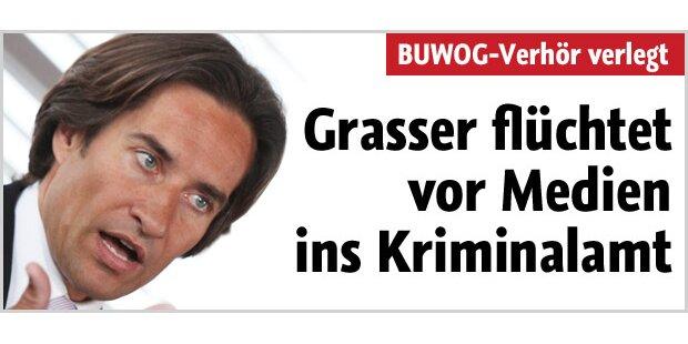 Grasser flüchtet vor Medien ins BKA
