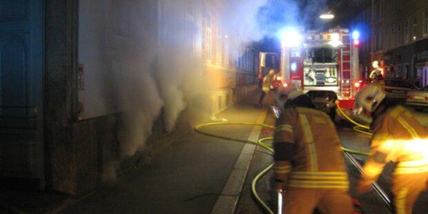 Zwei Kellerbrände innerhalb einer Stunde