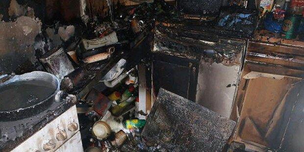 Grazerin bei Brand lebensgefährlich verletzt