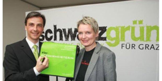 Schwarz-Grüne Koalition in Graz unterschrieben