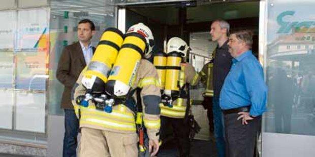 Feuer: Stadtwerke-Zentrale evakuiert