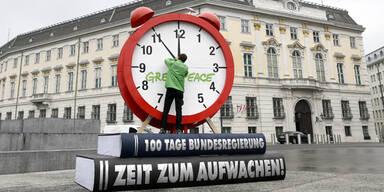 Greenpeace protestiert gegen Regierung