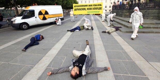 Greenpeace-Aktion in Klagenfurt