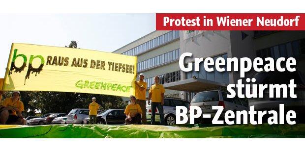 Greenpeace stürmt BP-Zentrale