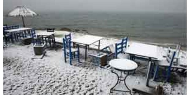 Schnee-Chaos in Griechenland