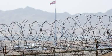 Nordkorea feuert Granaten auf Lautsprecher
