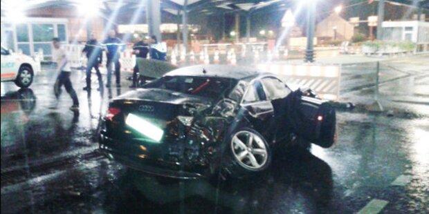Audi segelt 45 Meter durch die Luft