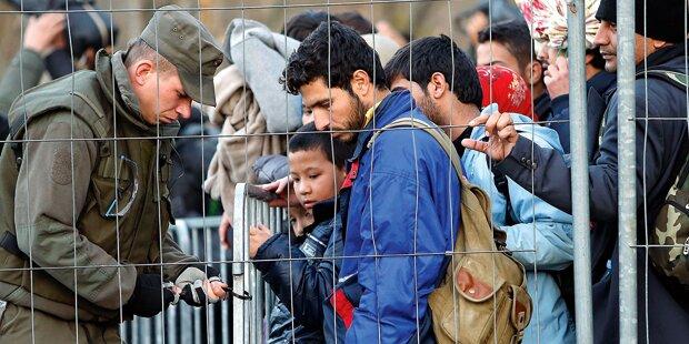 Doppelter Grenzzaun gegen Flüchtlingssturm