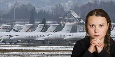 119 Milliardäre kommen mit Privatjet zu Greta Thunberg